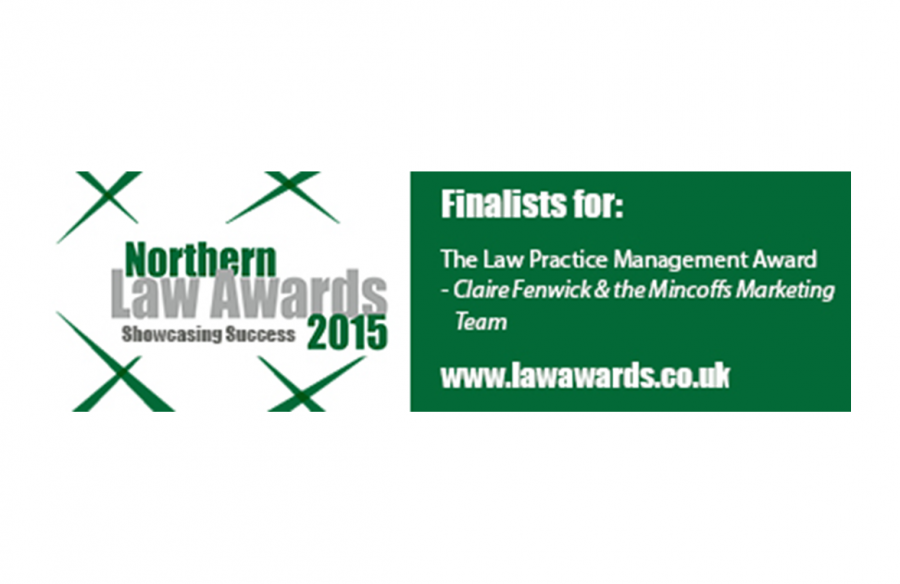 Marketing team shortlisted for Northern Law Award