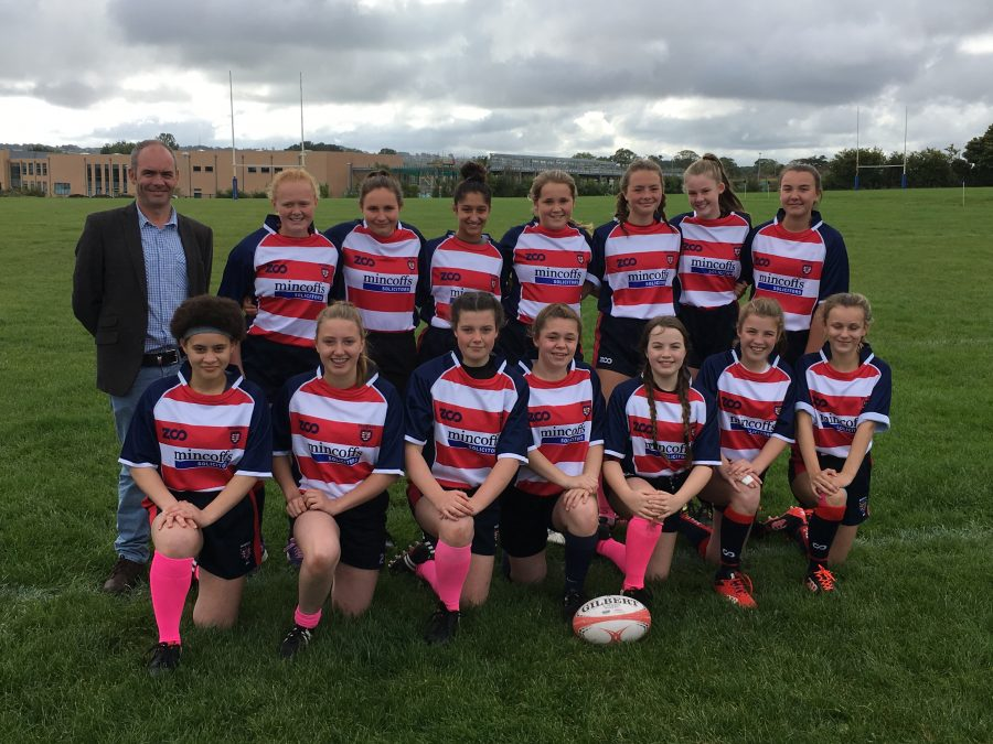 Mincoffs sponsor Morpeth U15 girls rugby team