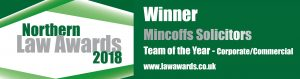 Northern Law Awards 2018 Corporate/Commercial Team of the Year Logo, Mincoffs Solicitors