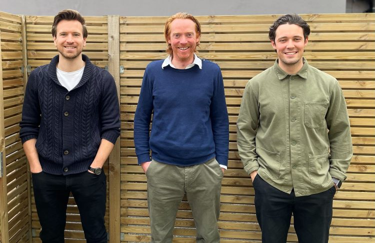 Haystack Co-founders: L-R CTO Rob Simmons, CEO Chris Bone, COO Mike Davies